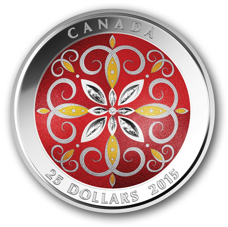 2015 $25 Pure Silver Coin - Christmas Ornament