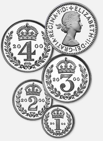 Maundy Coins - Mary Gillick effigy
