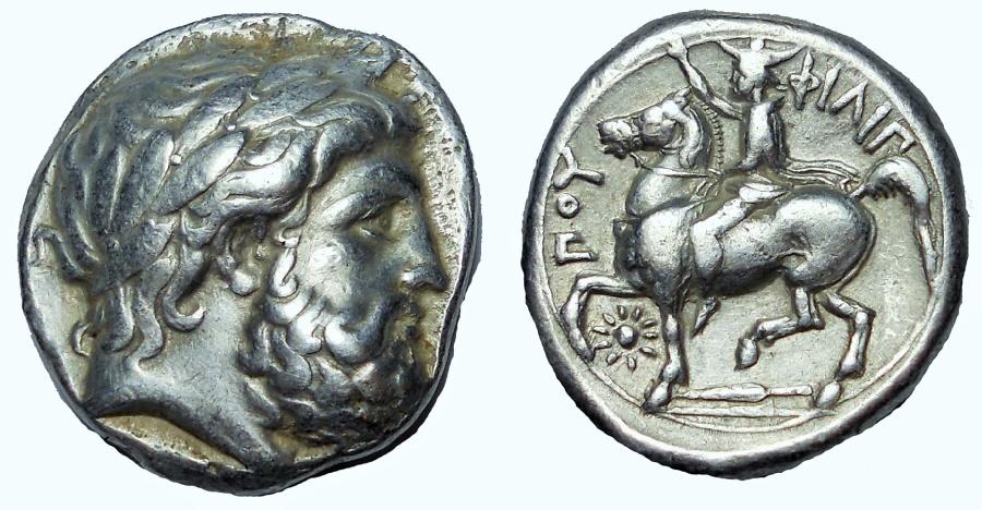 Kingdom of Macedon, Philip II AR Tetradrachm