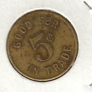 Oom Paul Token 5 Cents