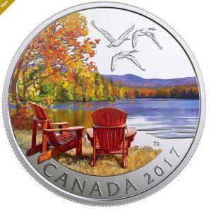 1/2 oz. Pure Silver Coloured Coin - Iconic Canada: Autumn's Palette (2017)