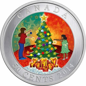 2014 50c Christmas Tree - Lenticular Coin
