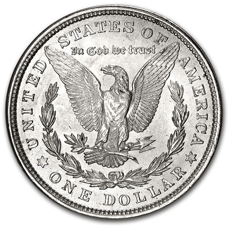 1921 Morgan Dollar reverse