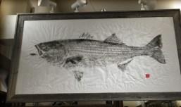 "An example of Gyotaku printing (image courtesy of Joe's Fresh Fish Prints"""