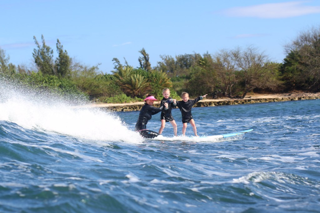Surfing lessons at Puaena Point