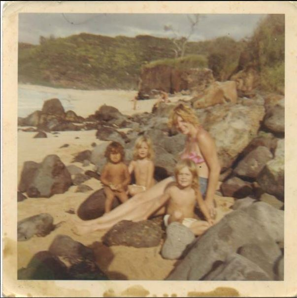 Waimea-Bay-w-mother-twin-sister-brother