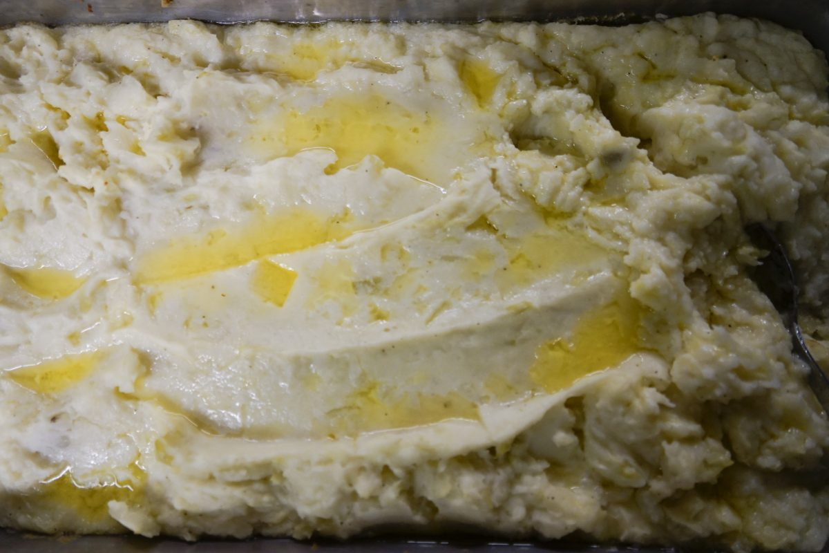 NUCC St PAtty's day dinner mashed potatoes