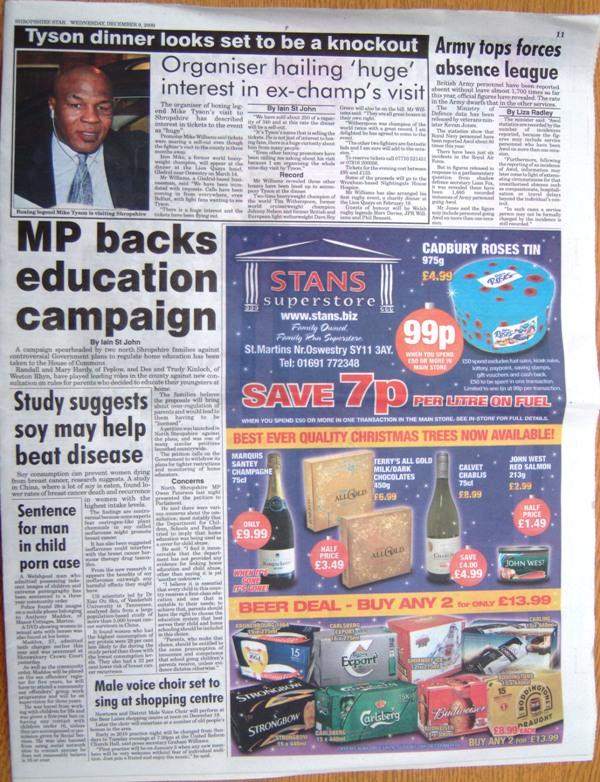 Shropshire Star - Article 9 December 2009