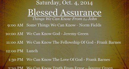 Northside Fall Workshop 2014: Blessed Assurance