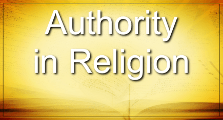 Authority In Religion