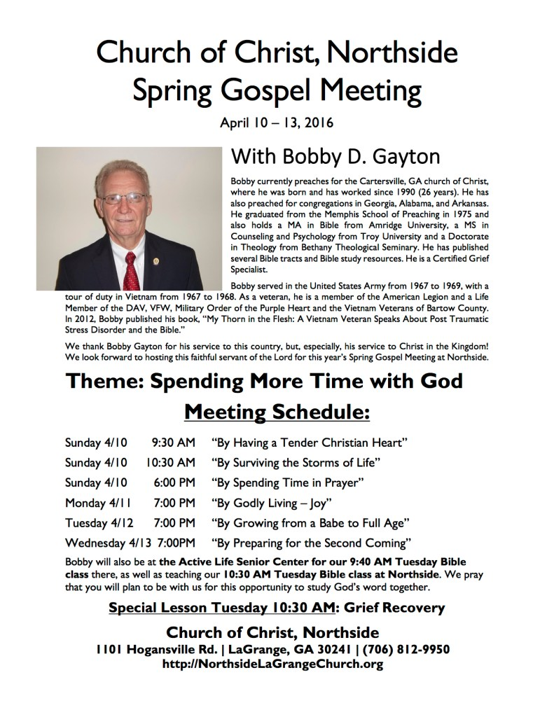 2016 Meeting Flyer