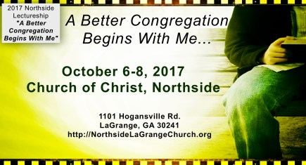 A Better Congregation Begins With Me…