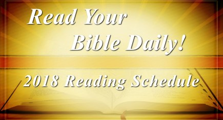 Read Your Bible Daily in 2018