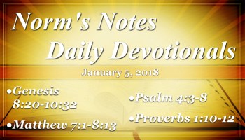 Norm's Notes for January 3, 2018 – Church of Christ, Northside