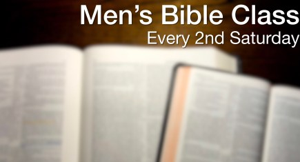 2nd Saturday Men's Bible Study