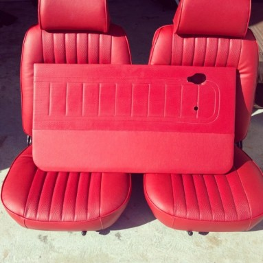 classic red door panels