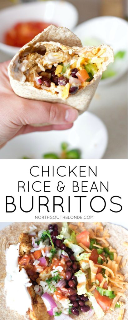 Make Mexican night fun and delicious with this easy burrito recipe. Light and lean, involves gluten-free pita bread for the wraps and tons of protein and fibre. Enjoy for lunch, dinner, or after a workout! A healthy, family friendly recipe. Gluten-Free Dinner Recipe | Gluten-Free Burritos | Rice and Beans | Cilantro Lime Rice | Mexican Dinner Recipe | Mexican Recipes | Healthy | Chicken Burritos | Homemade Burritos | Homemade Taco Seasoning |