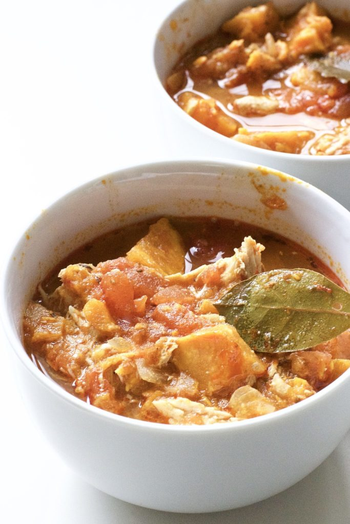 Slow Cooker Sweet Potato and Chicken Stew (Gluten-Free, Paleo)