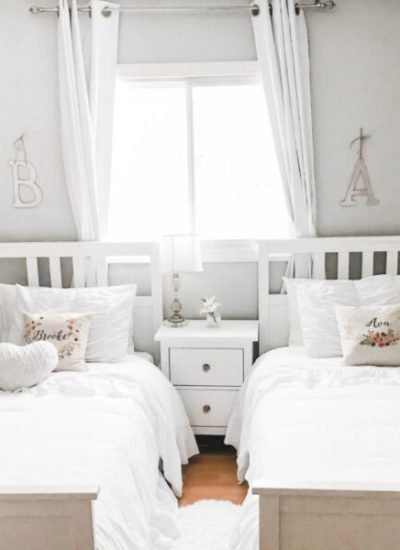 Cozy and Whimsical Girls Shared Bedroom Reveal