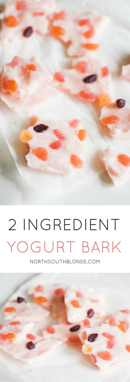 2 Ingredient Frozen Yogurt Bark After School Snacks for Kids