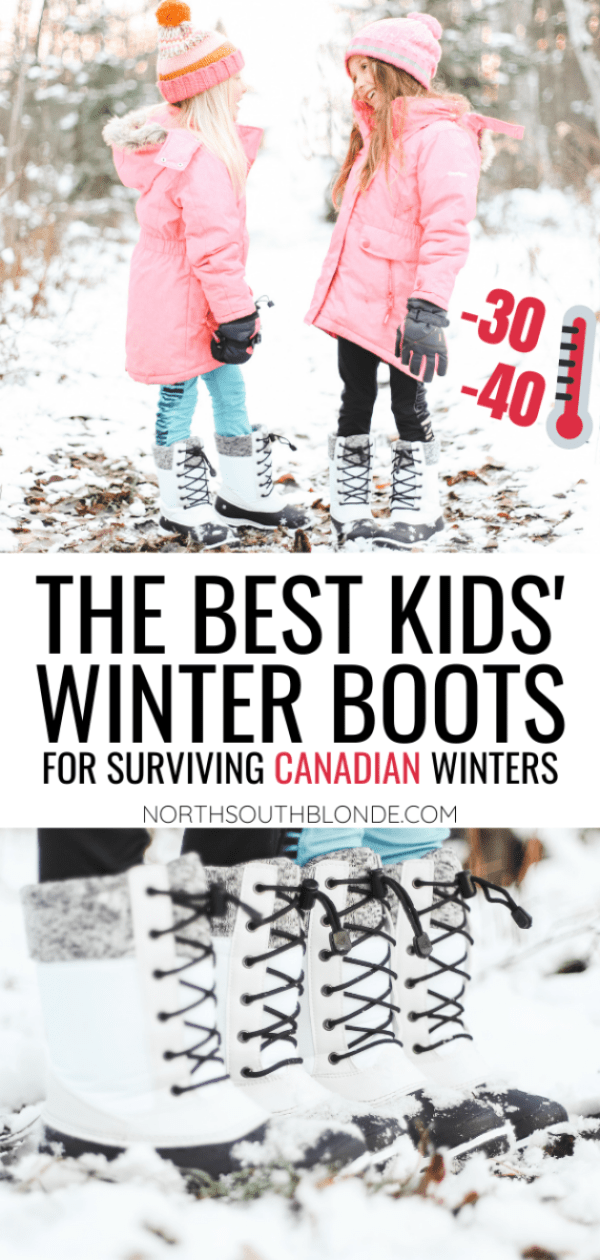 A shopping guide of the warmest, most durable winter snow boots for kids of all ages, that will keep them warm and dry all winter long! Canadian Winter | Polar Cold | Snow Boots | Girls Snow Boots | Boys Snow Boots | Waterproof Boots | Temperature Rating | Warmth Rating | Winter Rated | Severe Weather | Canadian Made | Kids Fashion | Winter Gear | Winter Fashion | Buying Tips | Gift Guide |