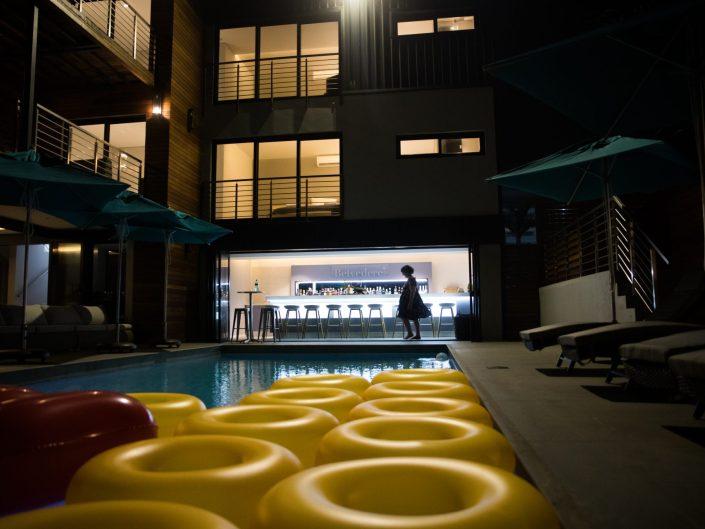 The North Star Pool and Bar at Night