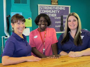 The Oroville YMCA staff work hard as a team to benefit area children. From left to right: Celeste Silva, service area director, Cayndis (Cat) Adams, aquatics coordinator, and Jackie Glover, program coordinator.