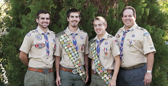 All four of the Zufall Eagle's,  Andrew, (21), Blake, (18), Adam, (18) and Ron (49)