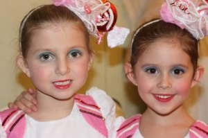 "Two young ""Peppermints.""   Photo: Redding City Ballet."
