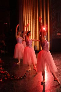 Joyful dancers in The Nutcracker. Photo: Redding City Ballet.