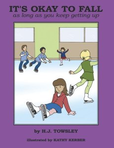 """It's Okay to Fall is written by a former competitive ice skater and coach H.J. Towsley. This beginning ice skaters' book features an uplifting story that follows the first lesson of a young girl with her coach. """"After Kayla's first timid steps onto the ice, not only does she get to howl like a wolf and stomp on the ice, but she learns that falling is the most important lesson of learning to skate,"""" reports Amazon.com. Geared for ages 3-8, but good for skaters of all ages, it's both a """"how-to"""" and a beautiful picture book."""