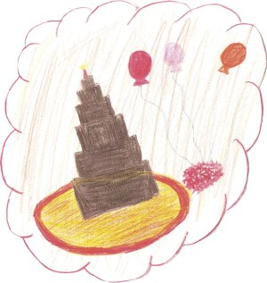 Brooke loved coming to Dr. Patrick's office and would draw pictures to show her gratitude for his help with overcoming her food sensitivities. This is the chocolate cake Brooke was able to eat for the first time on her 7th birthday!