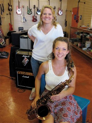 Sally MacMillan  with 2014 Teen Music Contest winner Adele Duval.