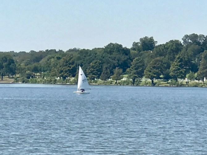 White Rock Lake: Sailboat on the lake