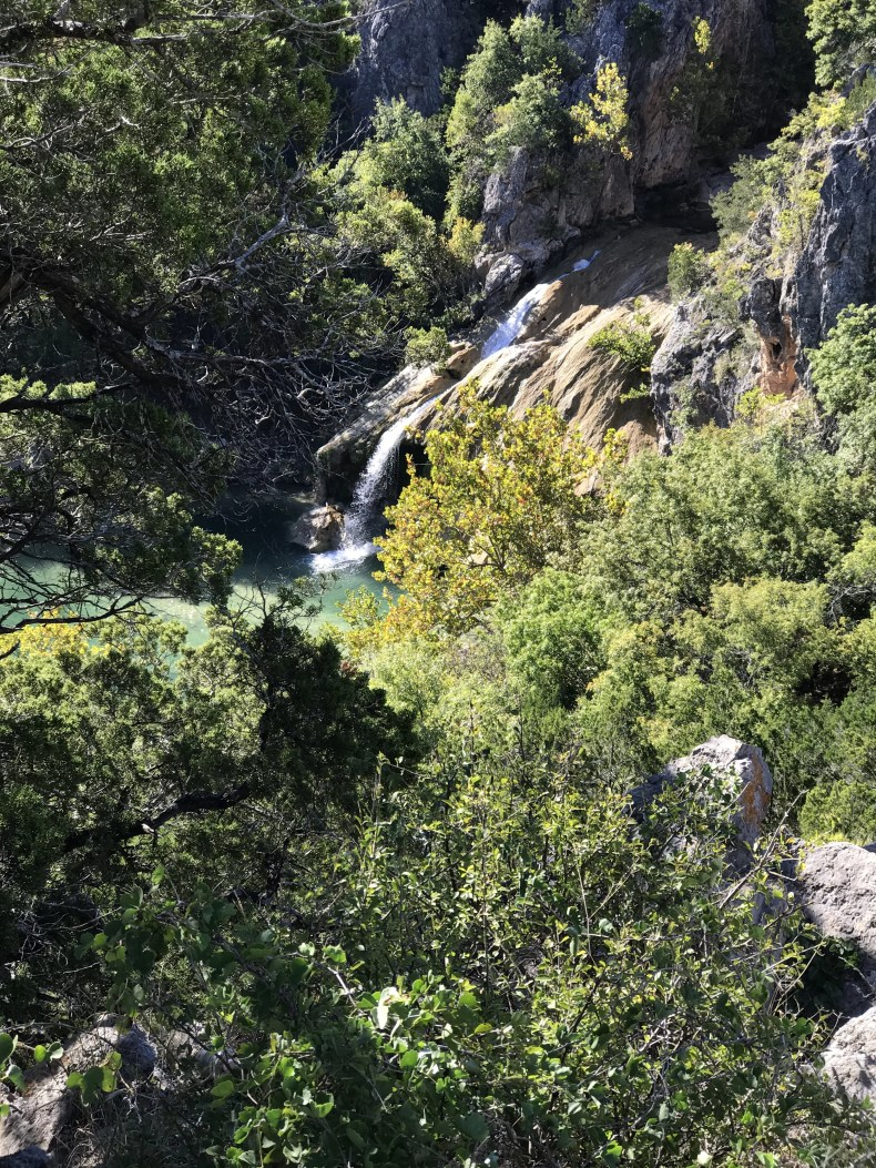 Turner Falls: View from scenic overlook