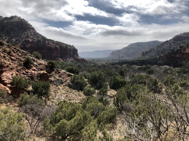 Early morning canyon view at Caprock Canyon State Park