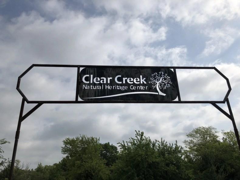 Clear creek natural heritage center entrance sign