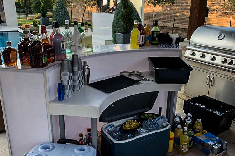 house backyard bar service by the pool