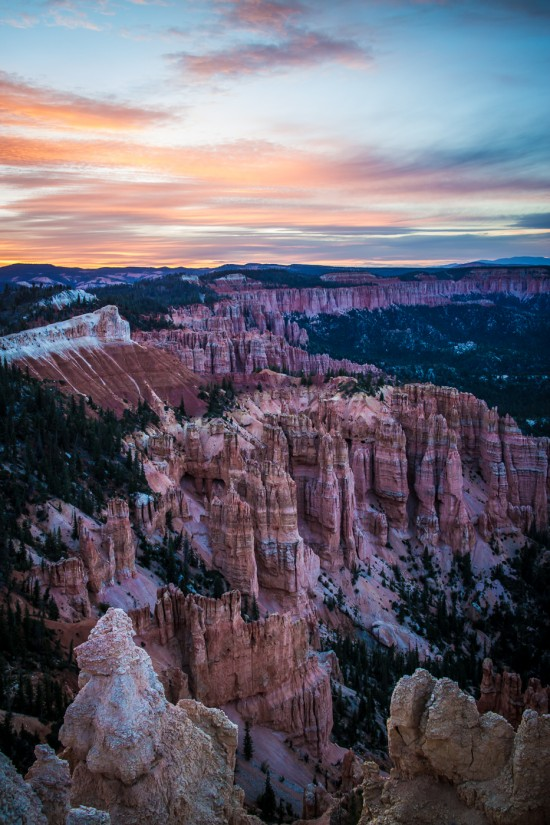 Bryce Canyon National Park sunset from Rainbow Point, Utah, USA on northtosouth.us