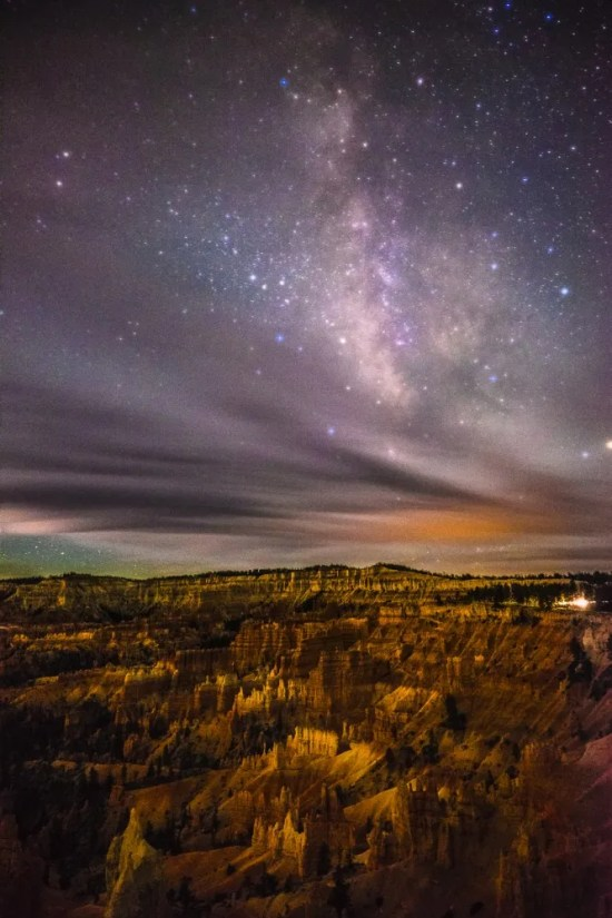 The Milky Way from Sunrise Point at Bryce Canyon National Park, After Dark, Utah, USA on northtosouth.us