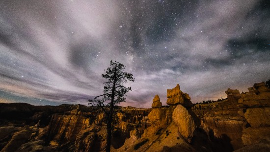 Queens Ridge Trail at Bryce Canyon National Park, After Dark, Utah, USA on northtosouth.us