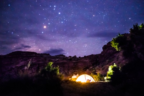 Camping under the stars on northtosouth.us