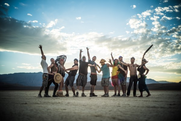 Burning Man 2014 group portrait at sunset on northtosouth.us