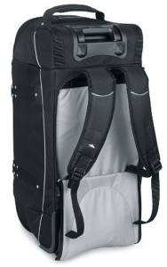 straps on High Sierra wheeled carry-on with daypack