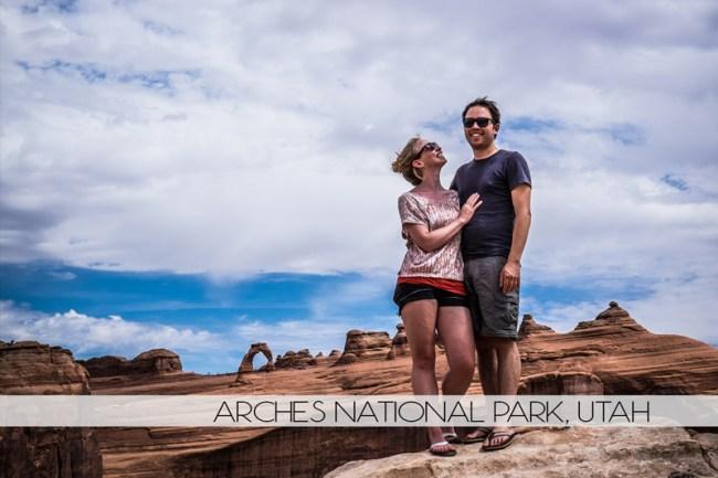 Diana and Ian at Arches National Park, Utah