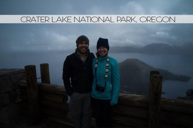 Diana and Ian at Crater Lake National Park, Oregon