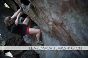 Diana Southern rock climbing Leavenworth, Washington