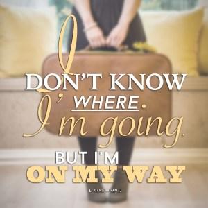"""""""I don't know where I'm going, but I'm on my way."""" -Carl Sagan"""