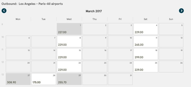 Cheap flight Los Angeles to Paris March 2017 on Norwegian Air