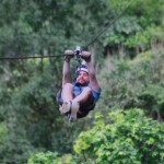 Ian Norman ziplining at Sky Trek, Sky Adventures Arenal, Costa Rica